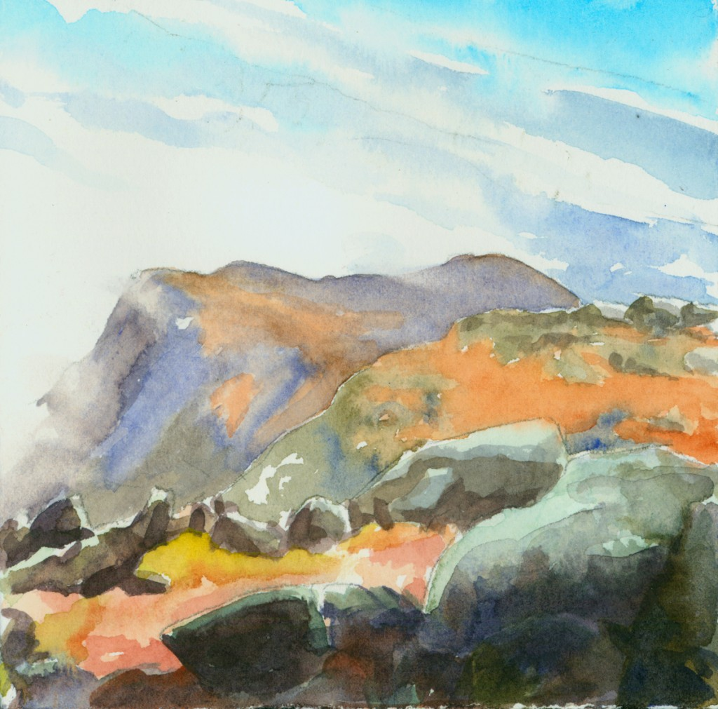watercolor sketch of the tableland